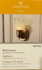 Portfolio Gilburne Antique Brass Finish Wall Sconce #0077921 New in Box