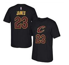 Lebron James Cleveland Cavaliers #23 Black Youth Name & Number T Shirt Small (8)