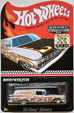 HOT WHEELS 2016 COLLECTOR EDITION '59 CHEVY DELIVERY ZAMAC FACTORY SEALED W+