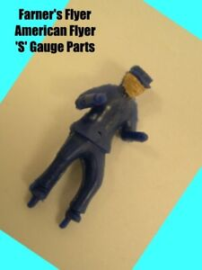 American Flyer 23796 Dark Blue Sawmill Man 'S' Gauge  (Painted) - Reproduction