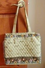 WOMEN'S QUILTED HANDBAG BY AMERICANA BY SHERIF BROWN WITH ANIMAL FLORAL PRINT