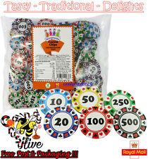 1 - 1000 Large Casino Poker Chip Chocolate Coins Party Bag Filler Las Vegas