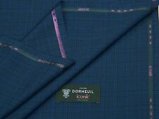 Dormeuil 'iconik' SUPER 120S Blu/Nero Lana Suiting Tessuto-MADE IN ENGLAND 3.5M
