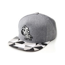 Unisex Mens Zebra Horse Paper Folding Origami Baseball Cap Snapback Hats Gray