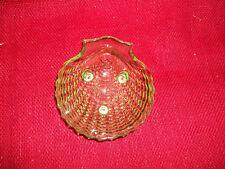 Vintage - Glass Shell Soap Dish Jewelry/Trinket  Holder