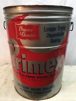 Primitive  Large Lard Metal Tin Can Kitchen Decor Primex Shortening