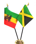 Ethiopia 1941 to 1974 Lion of Judah & Jamaica Friendship Table Flag Set