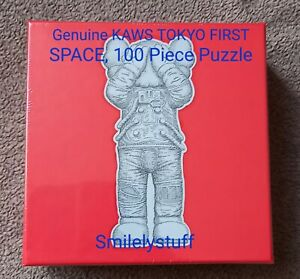 Brand New, Genuine KAWS TOKYO FIRST SPACE Puzzle, 100 Pieces, SEALED.