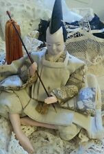 Antique Ningyō Japanese Doll Male Japan Asian Dolls Traditional Costume