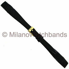 13mm Hirsch Black Genuine Lizard Unstitched Open Ended Ladies Watch Band Regular