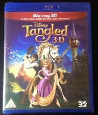 Disney TANGLED 3D Blu-Ray & Blu-Ray 2-Disc Set. Region ABC Region Free New Rare!