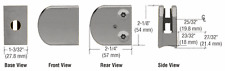 """Brushed Nickel Z-Series Zinc Large Round Clamp for 3/8"""" Glass"""