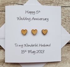 Personalised 5th Wedding Anniversary card for husband - 5th wedding anniversary