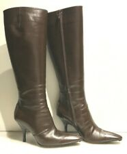 TOD'S WOMENS BROWN LEATHER POINTED TOE TALL BOOTS  6