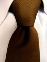 Men's VINTAGE Wemlon by Wembley Brown Silk Tie Vintage A26060