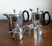 Vintage Silver Plate Teapot, Hot Water Milk Jug Sugar Bowl Tea Set /Hotel Style