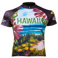 Primal Wear Aloha Hawaii Full Zip Short Sleeve Sport Cycling Jersey