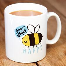 NUOVO Katie abey non ti preoccupare BEE HAPPY PORCELLANA REGALO TAZZA Divertente Carino Cartoon