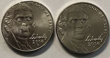 2014 P and D 2 Coin Jefferson Nickel Set In Great Condition