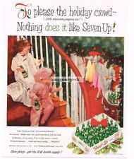 1956 7 Up Seven-Up Kids Watching Ggrown-ups Christmas Party Vtg Print Ad