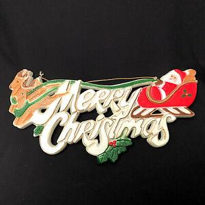 Santa Claus Merry Christmas Sign