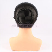 Braided Hair Bun for Bridal Extensions Clip in Chignon Retro Hairpiece Synthetic