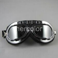 Best Selling WWII Style Motocycle Steampunk Driving Goggles Glasses Brand New