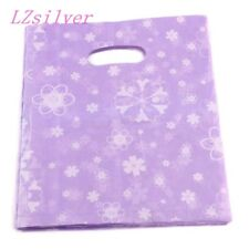 Jewelry Pouches. 100pcs Purple flowers Plastic Bags Jewelry Gift Bag 20x25cm