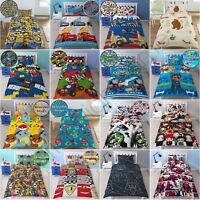 BOYS REVERSIBLE SINGLE DUVET COVER SETS - STAR WARS, POKEMON, AVENGERS + MORE