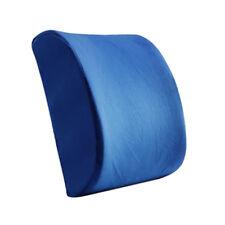 Short Plush Car Waist Cushion Lumbar Pillow Back Support Pad Backrest Blue