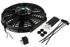 "7.5"" lame universelle 12 volts slim radiator fan 213 x 201 x 65mm avec 30amp relais"