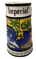 Imperial La Cerveza De Costa Rica Surf Board Handle Beer Stein Mug Cup