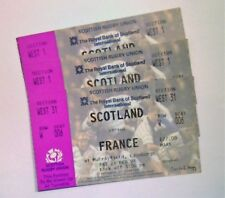 Scotland V France Rugby International Tickets 21/02/98 Ticket Stub(s)