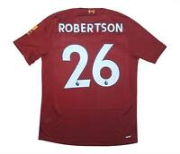 Liverpool 2019-20 Authentic Home Shirt 'Champions' Robertson #26 (BNWT) M