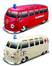 Maisto Ferngesteuertes Auto VW Bus mit Licht und Sound Bulli Ambulanz Feuerwehr