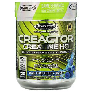 Muscletech Creactor Blue Raspberry Blast 9 32 oz 264 g Sugar-Free