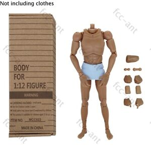 "MCCToys 1:12 Narrow Shoulder Male Figure Body for 6"" Phicen TBleague Enterbey."