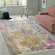Designer Wohnzimmer Teppich Hochwertig Modern Shabby Chic Pastell Farben Bunt
