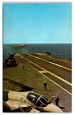 1960s Grumman A-6 Intruder Landing on USS Lexington (CVS 16) Postcard