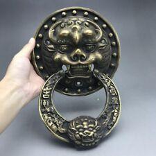 China's ancient pure copper sculpture of door handle.    ag238