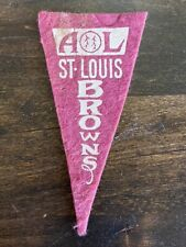 Vintage Pennant American League Baseball St. Louis Browns MO Red Felt Small