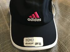 Adidas Womens Fit Brand New With Tags Black Cap Adjustable Size !,,