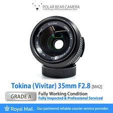 Vivitar Tokina 35mm F2.8 Fast Wide-angle M42 Prime + Caps [GRADE A, SERVICED]