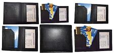 Lot of 6 Leather Business ID card case 3 card holder, New Slim Black card case