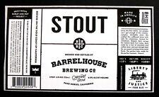 Barrelhouse Brewing Co STOUT beer label CA 22oz STICKER Barley & Hop Project