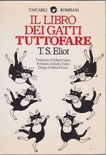 TS Eliot, Il libro dei gatti tuttofare, Bompiani, 1994, poesia inglese,Tascabili