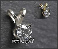 Diamant Anhänger Damen 585 Gold Brillant 0,10-0,25ct/ Top Wesselton/ VS-Si, NEU