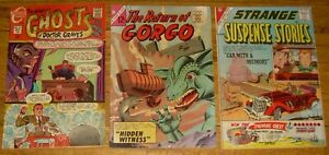 Lot 3 Charlton comics w/STEVE DITKO art Return of Gorgo STRANGE SUSPENSE Stories