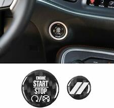 Carbon Fiber Engine Start+Tailgate Switch Cover Trim For Challenger/Charger 10+