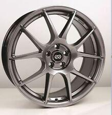 17x7.5 Enkei YS5 5x108 +45 Hyper Black Rims Fits 5 Lug Ford Focus Taurus Sho